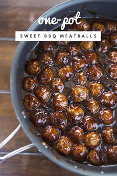One-Pot Sweet Barbecue Meatballs Yummy Appetizers, Appetizer Recipes, Dip Recipes, Easy Recipes, Keto Recipes, Barbecue Meatball Recipes, Wonderful Recipe, Fabulous Foods, Ground Beef Recipes