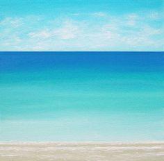 Beach Painting Ocean Painting Modern Beach por ChrisMaestriGallery, $69.00