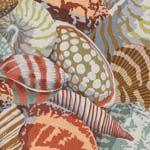 Philip Jacobs Fabric, Shell Montage Grey (per 1/4 metre)