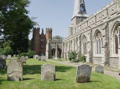 St. Mary's Church and the Deanery Tower built in 1495, Hadleigh, Suffolk, England