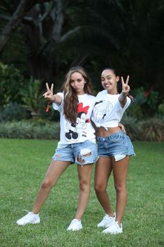 ARUSHA, TANZANIA - FEBRUARY 22: (IMAGES AVAILABLE FREE OF CHARGE FOR EDITORIAL USE FOR 48 HOURS FROM CREATE DATE. STRICTLY EDITORIAL USE ONLY) Jade Thirlwall and Leigh-Anne Pinnock of Little Mix pose for a photo ahead of 'Kilimanjaro: The Return' for Red Nose Day on February 22, 2019 in Arusha, Tanzania, all to raise funds for Comic Relief supported projects in the UK and around the world. (Photo by Chris Jackson/Comic Relief/Getty Images for Comic Relief)