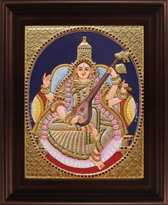 Buy traditional Tanjore Paintings for sale in India. Thanjavur Paintings online shopping in various patterns, colours, designs and prices at Sandiv Art Gallery. 3d Art Painting, Art Painting Gallery, Gouache Painting, Online Painting, Mysore Painting, Tanjore Painting, Jr Art, Embroidery Motifs, Hindu Art