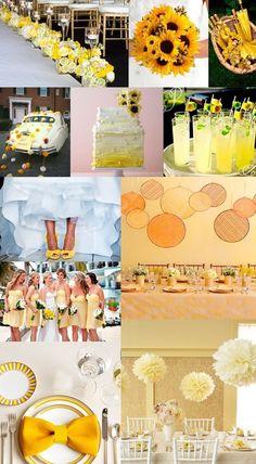 Sunny yellow wedding