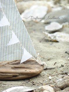 DIY Driftwood Sailboats - White Gunpowder
