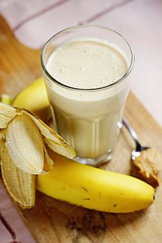 Banana Peanut Butter Smoothie (also substituting the yogurt and honey for vanilla ice-cream also works)