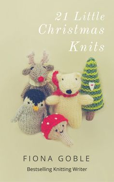 The new cover for my book on miniature Christmas knitting projects. 21 knitting patterns included so great value!