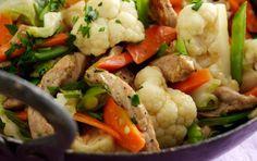 Skinkewok med sommergrønt og ris | Opskrifter | Arla