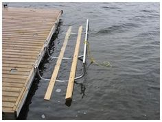 Kayak cradle/launch pad that attaches to dock Container Transport, Float Life, Lake Landscaping, Lake Toys, Dock Ideas, Floating Dock, Kayak Storage, Launch Pad, Lake Cabins