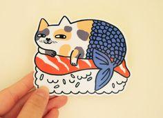 Mercat Sushi Vinyl Sticker