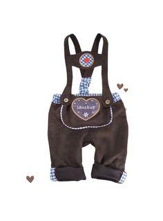 Trachtenmode - *Baby Lederhose* Wildlederimitat, 56-98, blau - ein Designerstück von Gipfelfee-Trachten bei DaWanda