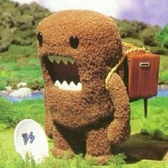 Domo serves as the mascot for the Japanese channel NHK (not unlike PBS)