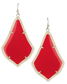 Alexandra Earrings in Bright Red - Bright Red never felt so right in the Alexandra earrings by Kendra Scott featuring Moroccan silhouettes and gold details.