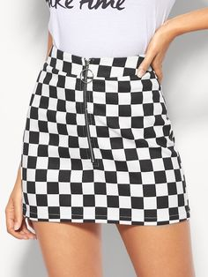 dbd54deb6 35 Best Checkered skirt ) images in 2017 | Checked skirt outfit ...