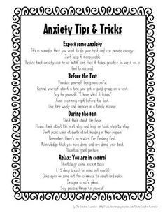 Test Anxiety Self-Assessment & Coping Skills