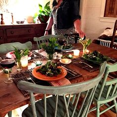 Rustic Tablescape in