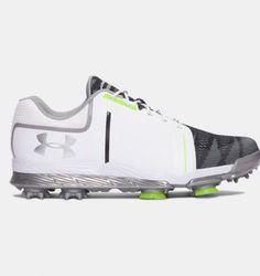 e4e34d65 (Under Armour Womens Golf Shoes) Under Armour Women's UA Tempo Sport Golf  Shoes White/Steel/Lime Fizz 8 M.