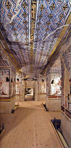 The tomb of Sennefer, on the west bank at Luxor Ancient Egyptian Art, Ancient Aliens, Ancient History, Kemet Egypt, Luxor Egypt, Empire Romain, Templer, Kairo, Egypt Art