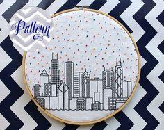Hello Seattle Cross Stitch Pattern. Confetti City by erinmcmoms
