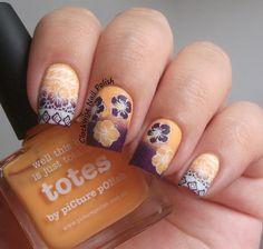 Hibiscus Tropical Nail Art