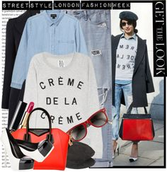 """Street Style - London Fashion Week"" by karineminzonwilson ❤ liked on Polyvore"