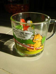Garfield and Odie Glass Mug McDonald's Vintage 1978-1980