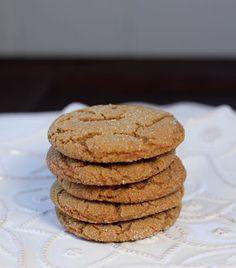 Chewy Gingersnaps - That Skinny Chick Can Bake