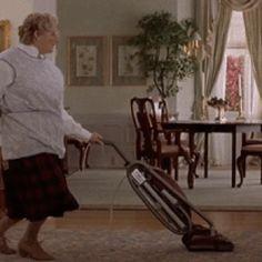 Mrs Doubtfire Dancing and Vacuuming