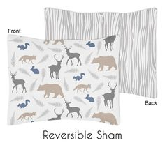 Woodland Animals Collection Pillow Sham