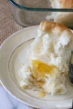 Super simple yeast rolls with homemade whipped honey butter