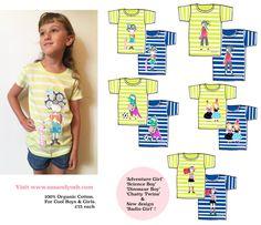 'Just Be Me' Organic Cotton Unisex Kids Fair Wear T-shirt on Sas and Yosh Boy Or Girl, Organic Cotton, Unisex, Boys, Illustration, T Shirt, How To Wear, Design, Tee
