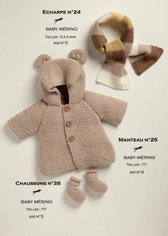 Best 11 Free knitting pattern courtesy of Les Laines Cheval Blanc. In addition to the knitting pattern, you will need the – SkillOfKing. Easy Knitting Projects, Knitting For Kids, Free Knitting, Baby Cardigan Knitting Pattern, Baby Knitting Patterns, Baby Patterns, Sewing Patterns, Baby Coat, Coat Patterns