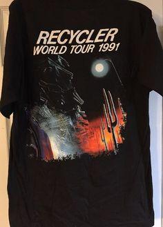 1ccacf42b00e ZZ Top 1991 Recycler World Tour T Shirt Large L Black Rock Roll Band Euc  Rare