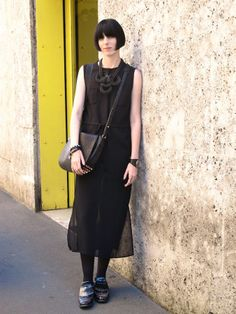 Milan, Italy...black is always chic