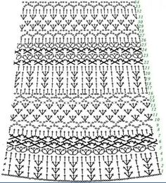 Crochet Skirts Skirt part for Crochet toddler dress in another language. Dress is really pretty - Delicate Crochet Baby Dress Pattern Free. Crochet Baby Dress Pattern, Black Crochet Dress, Baby Dress Patterns, Crochet Skirts, Crochet Clothes, Pattern Skirt, Diy Clothes, Crochet Motifs, Crochet Diagram