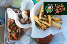Sink your teeth into our 'Emerald City Dog' and delish fried pickles today! Plus Pints and Quarts Dallas drink specials today feature $4.00 Dale-a-ritas (Strawberry / Pineapple / Lime)     _ CC : @deanxu #food #dallas #dfw #lower #Greenville #mine #Monday #custom #cocktails #hotdog #burger #fries #pickles #dilly #ranch #Dale #NASCAR by pintsandquartsdallas