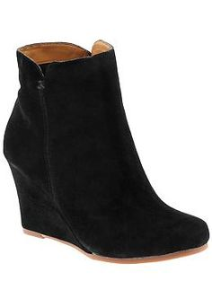 Perfect for work or play. The wedge makes these totally comfortable and the suede is super chic.