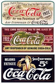 At the fountains of Coca Cola Vintage signs Vintage Coca Cola, Pub Vintage, Vintage Labels, Vintage Signs, Vintage Posters, Vintage Industrial, Vintage Decor, Industrial Style, Vintage Style