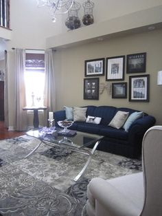 Silver And Navy Area Rug Design Ideas Pictures Remodel Decor CouchPicture ArrangementsLiving Room
