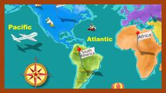 Cute song to help learn the names of the continents and oceans.