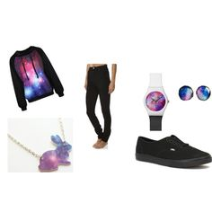 Galaxy by staytru3 on Polyvore featuring Vans