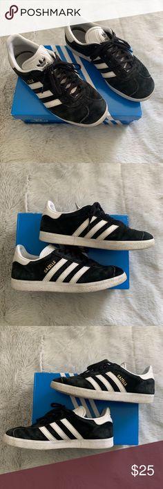 5676ddede1cc2 Used Adidas Gazelle Sneakers Women s Adidas Gazelle Sneakers Size Black and  white suede adidas gazelle Sneakers