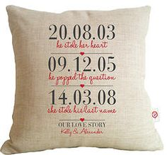 3 Dates (Our Love Story) - Love Cushion