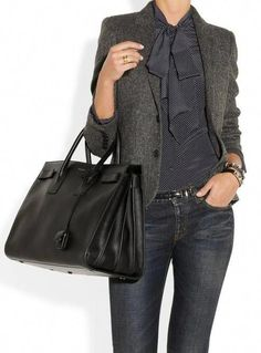 7365c95d4102 Love the mix of tiny polka dots and the herringbone blazer. The jeans keep  it