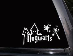 Hogwarts Castle, Harry Potter Vinyl Decal, Phone Decal,Laptop Decal, Wall Decal,Car Decal