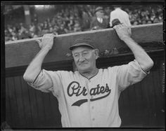 Honus Wagner, 1938, as a coach with the Bucs, on a Boston road trip.