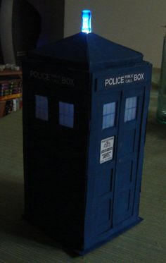 Make a Tardis out of cereal boxes