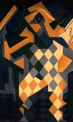 Arlequim com violino. Óleo sobre tela. 1919. Juan Gris (1887-1927). Encontra-se no Museu Nacional Centro de Arte Rainha Sofia, em Madri, Espanha.