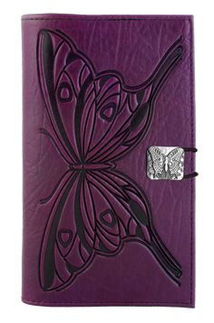 Leather Women's Wallet | Butterfly | Oberon Design