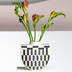 Buy handmade ceramic vases made in Australia by graphic artist Erin LIghtfoot. Vase Shapes, Minimalist Decor, Art Object, Tea Light Holder, Bud Vases, Tea Lights, Stoneware, Fountain, Planter Pots