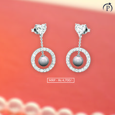 Pearl helps to keep emotions under control. Order now and get it delivered at your doorstep from plushvie. Shop Jewellery on EMI and pay at ease . Pearl Jewelry, Diamond Jewelry, Silver Jewelry, Fine Jewelry, Pearl Earrings, Jewelry Shop, Jewellery, Silver Pearls, Jewels